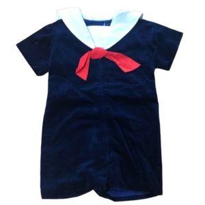 Vintage Eiseman Boys Velvet Sailor Outfit size 5T